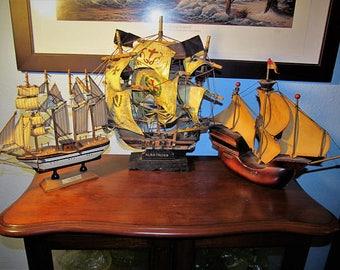 Vintage Ships Sebastian, Albatross and Made In Holland