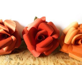 Fall  paper flowers, paper flower centerpiece, loose paper flowers, bright paper flowers, fall wedding flowers
