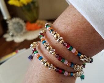 Wrap bracelet, bracelet, multicolor