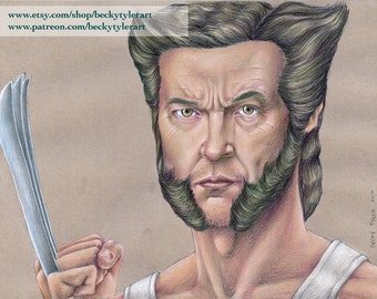 Hugh Jackman as Wolverine, Original Drawing