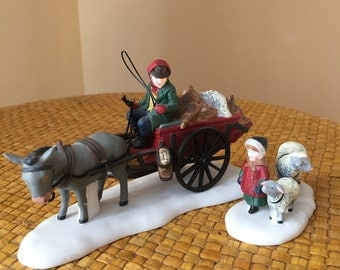 Department 56 Bringing Fleeces To The Mill Set of 2 Heritage Village Collection