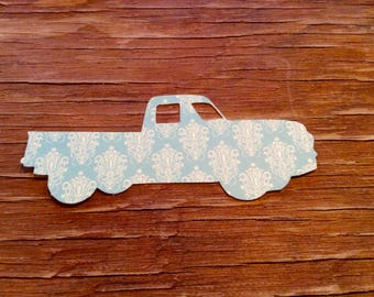 Vintage pick up truck cut outs confetti die cuts