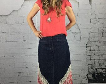 Maxi Skirt, Denim Skirt, Midi Skirt, Denim Maxi Skirt, Skirts For Women, A-line Skirt, Boho Clothing, Pencil Skirt, Print Skirt, Boho Skirt