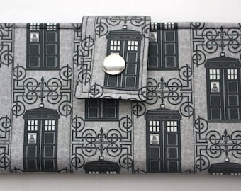 Wrought Iron TARDIS Doctor Who Inspired Handmade Long Wallet