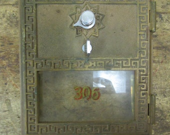 Vintage Post Office Mail Box Door
