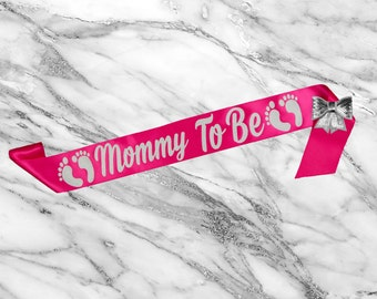 Mommy To Be Sash - Its A Girl - Baby Shower Sash - Baby Shower Gift - Mom to Be