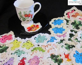 Lace Doilies Multi Colors Smaller than 5 Inches 12 Pack Assortment
