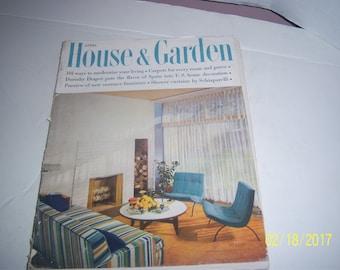 April 1955 House & Garden Magazine Living Room Couch Furniture Paper Ephemera