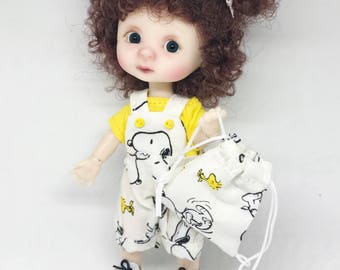 Snoopy Romper and Sack set for Lati Yellow & Pukifee