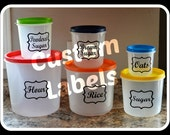 5 sets of 6 Custom labels