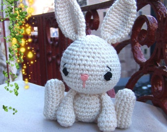 Easter Bunny Crochet Pattern-Instant Download -Toy Bunny Pattern-Small Amigurumi Bunny-DIY Rabbit-Stuffed Toy Animal-Crochet Stuffed Bunny