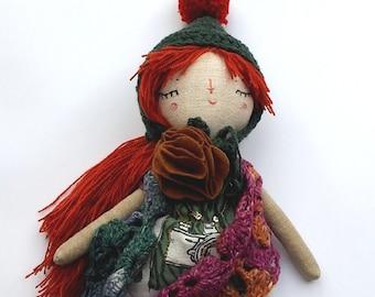 Anna, Rag Doll, OOAK Doll, Heirloom Doll, Dress Up Doll, Cloth Art Doll,