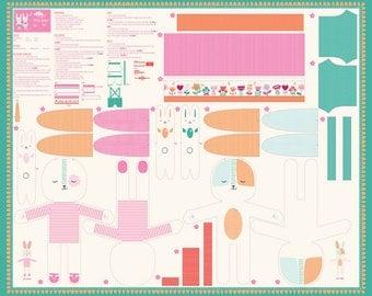 Moda-Sring Bunny Fun by Stacy Iset Hsu Spring Doll Panel 20540-11