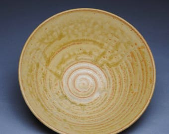 Clay Bowl  Side Dish Serving Taffy Yellow G59