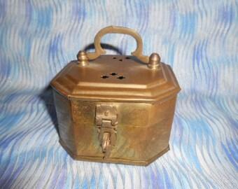 Brass Vintage Cricket Box