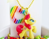 my little pony / little girl charm necklace / flippity flop