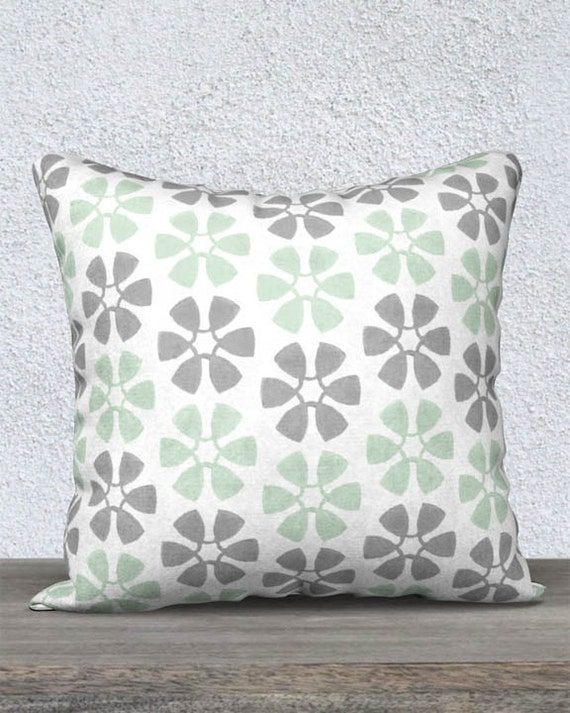 Mint Pillow Cover for Kids