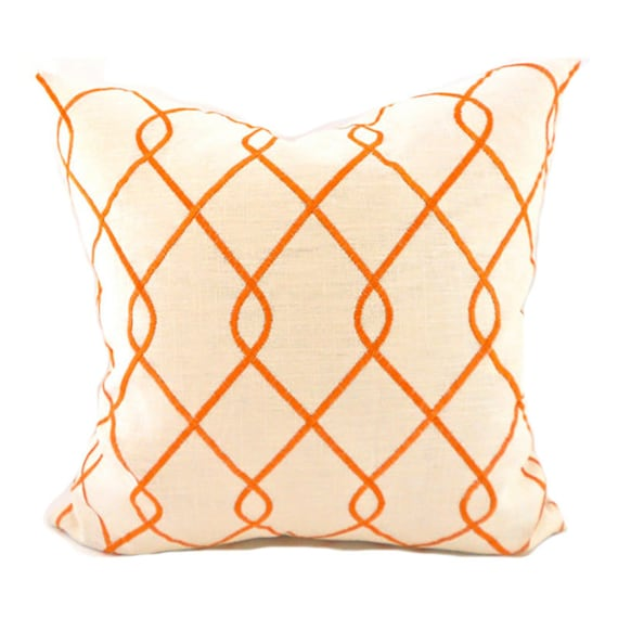 Pillow Covers ANY SIZE Decorative Pillow Cover Orange Pillows