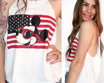 90's Patriotic Mickey Mouse Tank