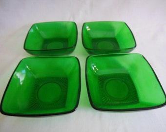 Anchor Hocking Charm Forest green Square dessert Berry Bowls offers considered