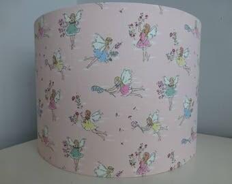 Cath Kidston Pale Pink Garden Fairies Cotton Fabric Drum Lampshade - 20cm & 30cm diameter