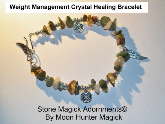 Stone Magick Adornments© Weight Management Crystal Healing Charm Bracelet