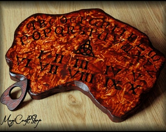 Ouija Board Charmed - wicca exorcism witch magic - Mini ( 20x25 cm ) size, handpainted and handmade