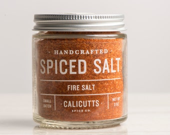 Fire Salt - Handcrafted Spiced Salt - 3 ounces in Glass Jar, All-Natural and Gluten Free