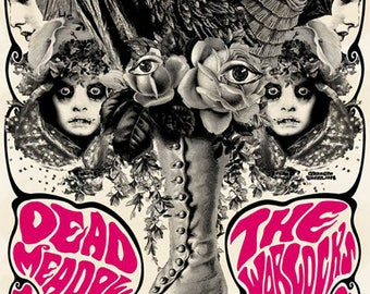 Dead Meadow with The Warlocks Poster by Darren Grealish