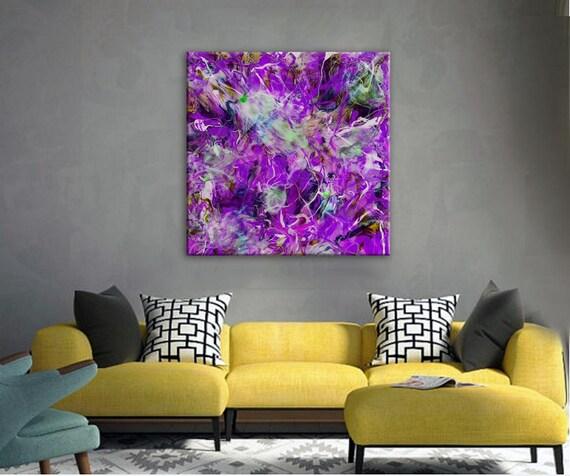 Epoxy Painting Canvas : Large canvas art print epoxy resin extra