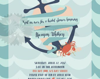 Sail Away Shower Invitation