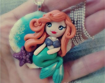 Sweet princess polymer clay necklace.