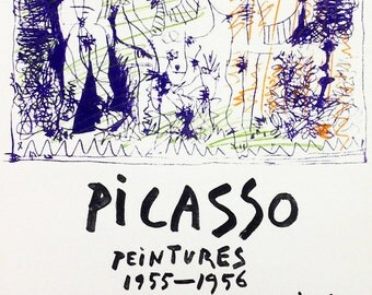 "Picasso 84 ""peintures-1955-1956"" printed 1959 Mourlot Art in posters"
