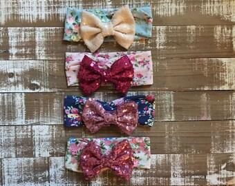 Sequin headband kit - diy headband - sequin bow - baby headband