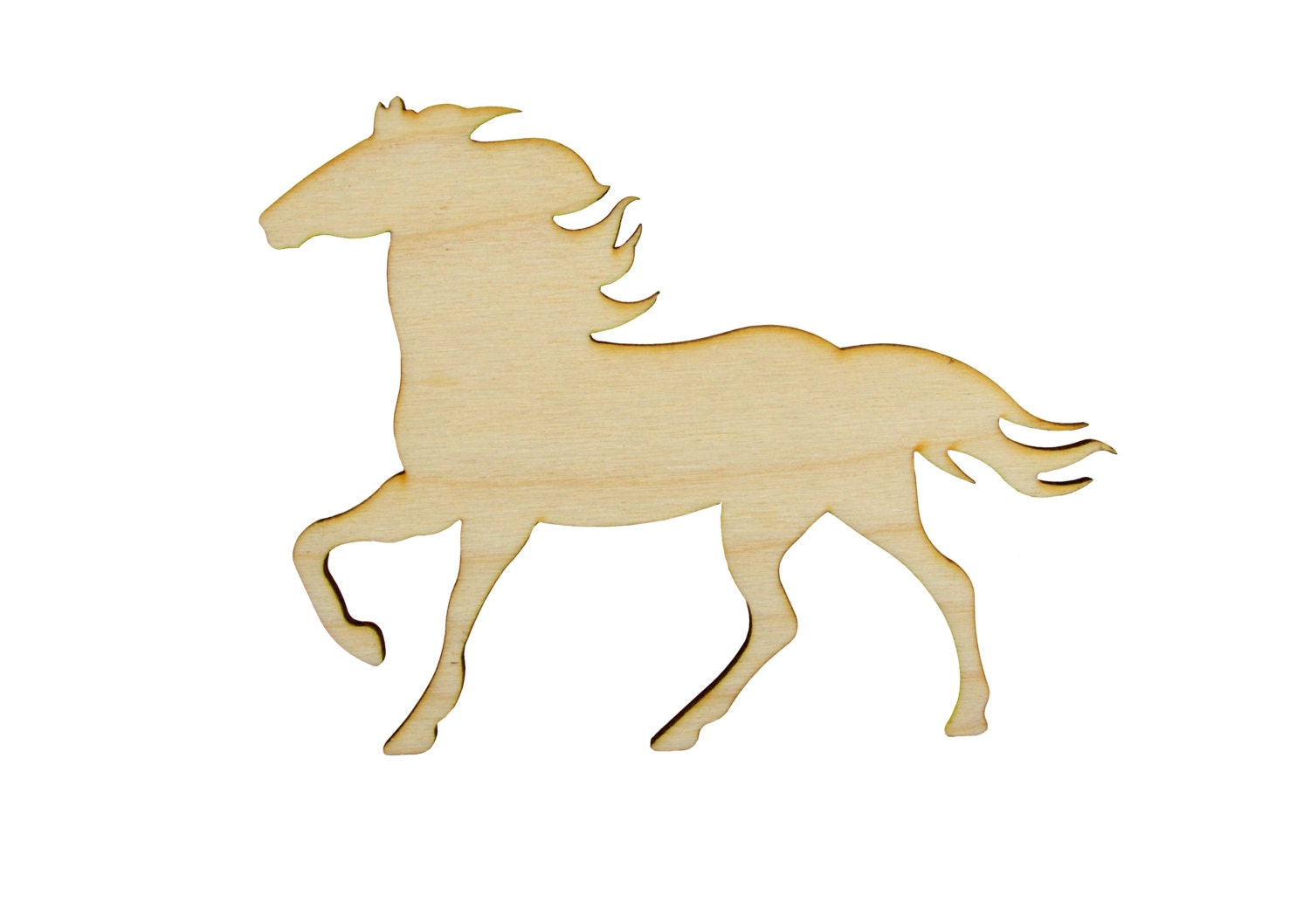horse shape wood cutout unfinished wooden animal shapes from