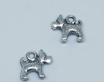 Silver Dog Terrier Charms