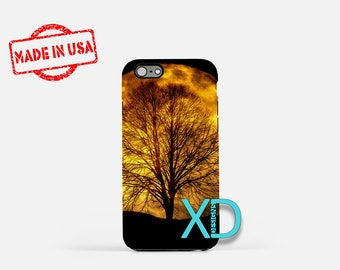 Full Moon iPhone Case, Yellow Moon iPhone Case, Full Moon iPhone 8 Case, iPhone 6s Case, iPhone 7 Case, Phone Case, iPhone X Case, SE Case