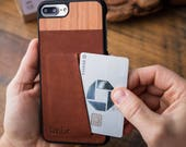 Leather iPhone 7 Plus Wallet Card ID Case, Ultra-slim iPhone 7 Plus Leather Card Carrying Case