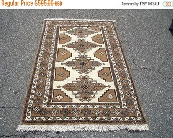 YEAR END CLEARANCE 1970s Hand-Knotted Ferdows Persian Rug (3016)