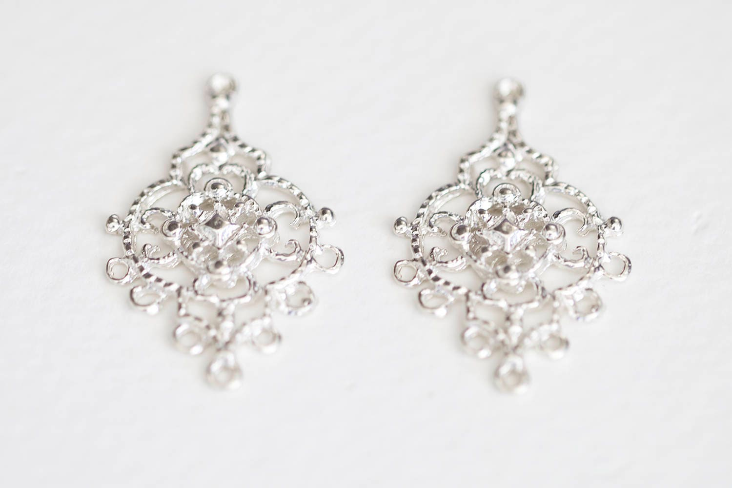 Sterling silver chandelier earring components 7 holes 925 sold by luxem mozeypictures Gallery