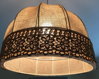 Awesome 1970's vintage brown lightshade - pendant
