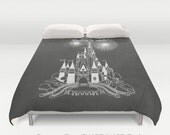 Believe in Magic Castle Chalk on Chalkboard Art  /Choice of Duvet Cover or Comforter /Bedding 2nd ships FREE! Full, Queen ( XL Twin) & King