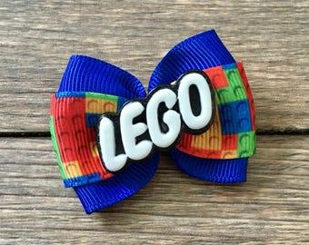 Lego Infant or Dog Hair Bow-Legos Bow-Tiny Lego Bow-Girly Lego Hair Bow-Lego Birthday Party Bow-Lego Baby Bow-Lego Dog Bow