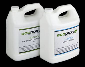 Ecopoxy UV.8 Litres You have found a safe, Enviromentally Friendly, Low Odor. Needs no ventilation. Casting resin.