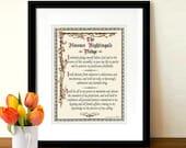 "Fine Art Print - ""Florence Nightingale Pledge"" 8.5""x11"", Nurse Pledge, Registered Nurse Gift, Medical Art Decor, Nurse pinning Ceremony gift"