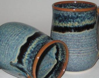 Pottery Mug, XL 20 oz Starry Night Blue, Handmade, Microwave Dishwasher Safe