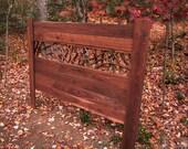 Rustic King size headboard, walnut for Megan B