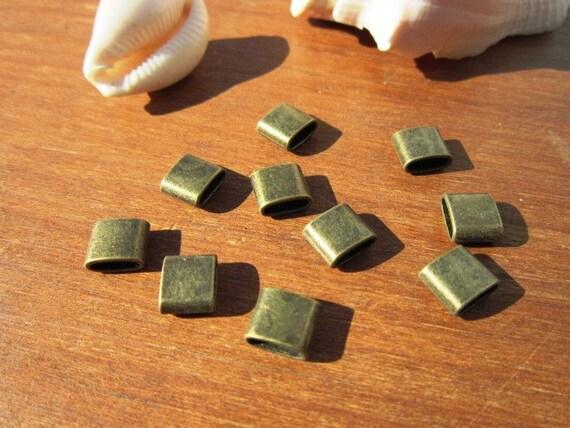 10pcs slider beads, bracelet sliders, bracelet findings ...