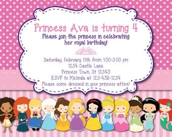 All Princess Birthday Invitation