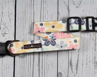 Springtime Floral - Custom Adjustable Fabric Dog Collar